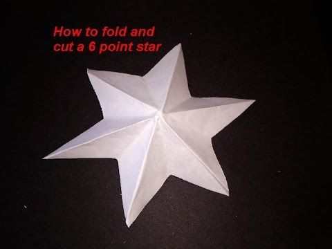 star 387_DIY HOW TO FOLD AND CUT A 6 POINT STAR - make a dimensional star - ornament - PAPER ...