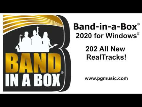 Band-in-a-Box® 2020 for Windows - 202 New RealTracks Overview
