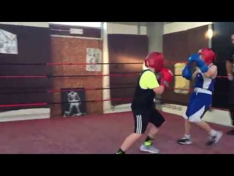 A short sparring bout at Jimmy Egans Boxing Academy Wythenshawe