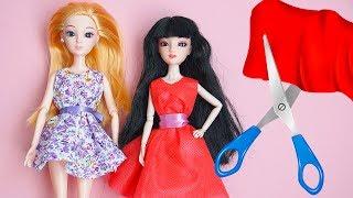 как сделать из ткани платье для куклы