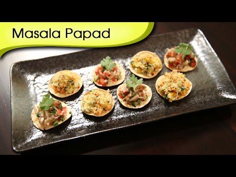Masala Papad (2 Variations) | Popular Indian Appetizer Recipe | Ruchi's Kitchen