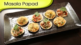 Masala Papad (2 Variations) | Popular Indian Appetizer Recipe | Ruchi's Kitchen