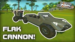 WW2 Jeep AA Flak Cannon Trailer Scrap Mechanic 285