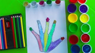Glitter hand coloring and drawing  By Learn colors with Guka