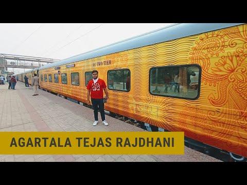 Agartala Rajdhani Express Journey with New Tejas Sleeper Coaches