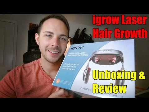 igrow Hair Growth System Laser Unboxing And First Use Review 1