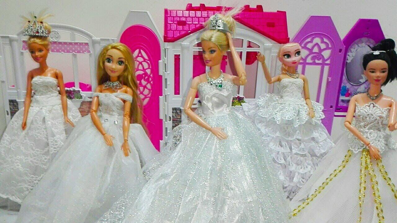 e61298a24c1db فساتين زفاف واختيار اجمل فستان لروبنزل وواصدقائها العاب تلبيس العرائس