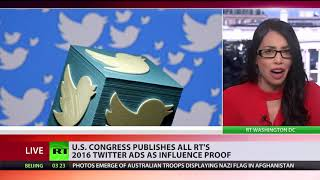 Still searching for Russiagate evidence? US publishes all RTs 2016 Twitter ads