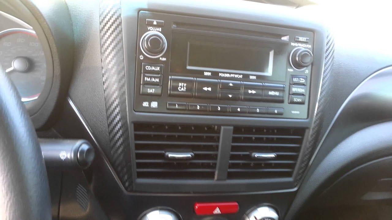 2013 Subaru Wrx Sti Carbon Fiber Vinyl Youtube