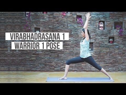 How to Do Warrior 1 Pose Virabhadrasana 1