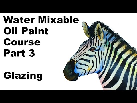 Water soluble oil painting grisaille glazing techniques - paint along