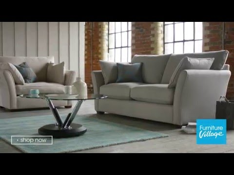 Fabric Curved Arm Sofa - Healey | Furniture Village