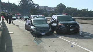 POLICE PURSUIT:  Motorcycle officer injured; 2 suspects arrested after San Francisco police pursuit