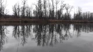 С маховой удочкой в ноябре за щукой и окунем. Fishing rod float
