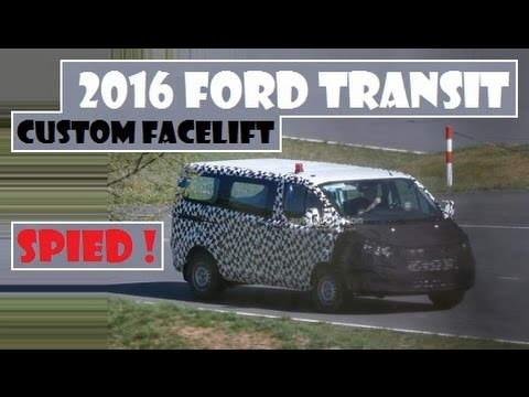 2016 ford transit custom facelift first time spied on the road youtube. Black Bedroom Furniture Sets. Home Design Ideas