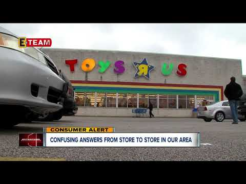 Confusing Answers From  Toys 'R' Us Stores In Our Area