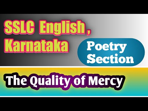 The Quality of Mercy : Recitation of the Poem