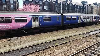 Class 150 leaving Harrogate station