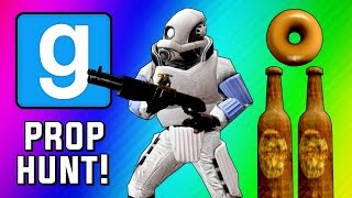 Gmod Prop Hunt Funny Moments - Epic Bottles, Seananners Spotted, Tricking Terroriser! (Garry