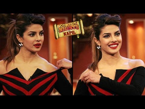 Priyanka Chopra's dress SLIP'S OFF on Comedy Nights with Kapil 9th February 2014 EPISODE