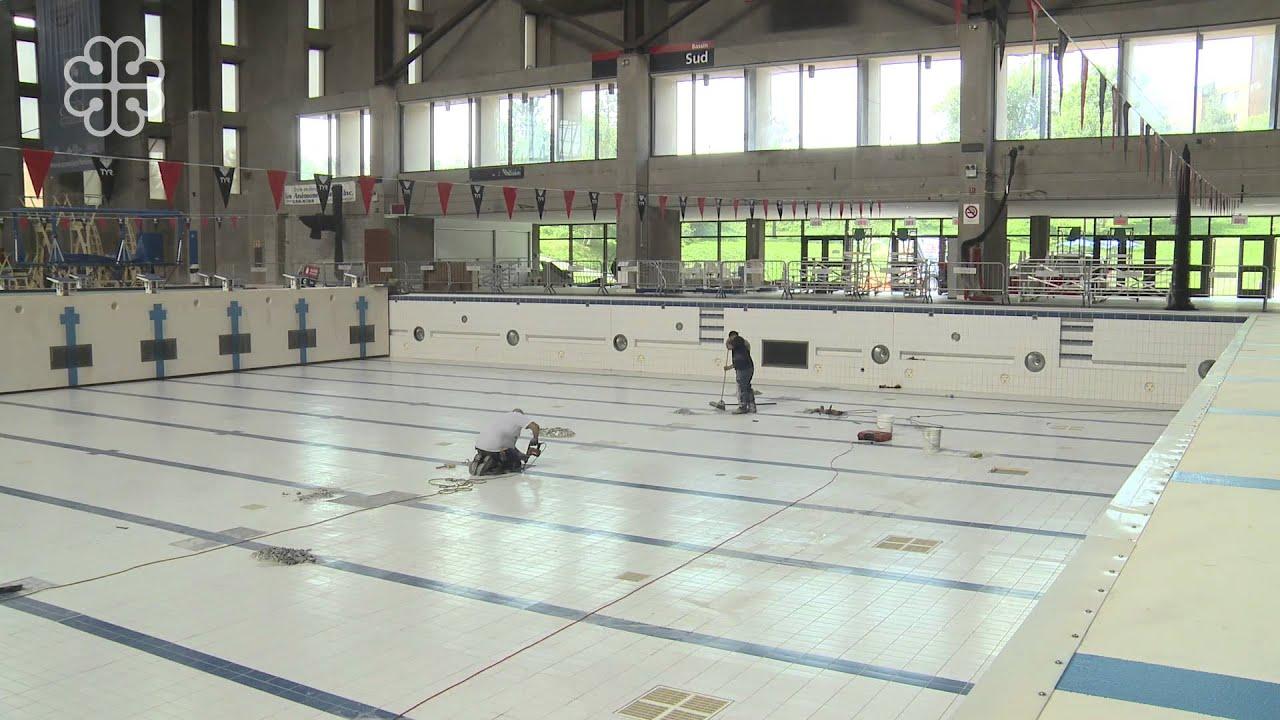 Vastes travaux d 39 entretien des bassins aquatiques au for Centre sportif terrebonne piscine