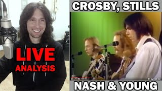 British guitarist analyses Crosby, Stills, Nash & Young live in 1970!
