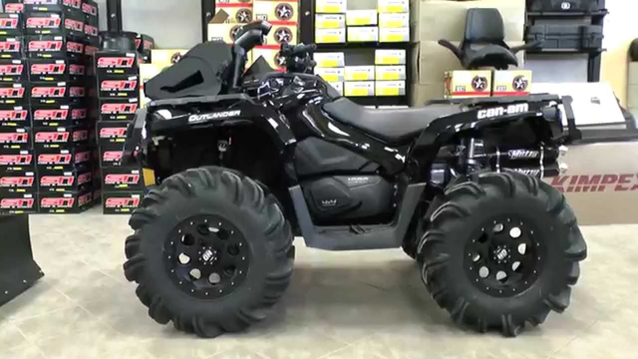 Honda Four Wheelers For Sale >> Blacked Out Jacked Up Highlifter Outlander 1000XTP! - YouTube