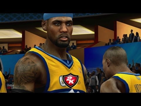 NBA 2K13 My Team - LeBron Under Knees Lob