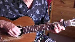 Bad Luck Blues - Blind Lemon Jefferson  Acoustic Blues Lesson -