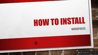 how to install wordpress in a …