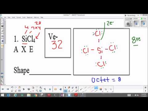 Molecular geometry SiCl4 - YouTube