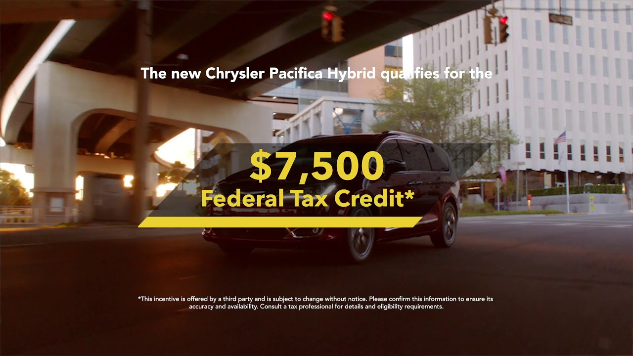 The New Chrysler Pacifica Hybrid Federal Tax Credit Savings