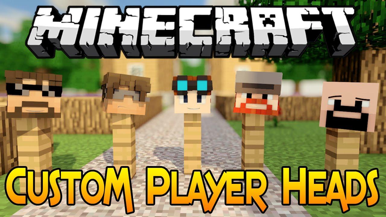 Minecraft 1 8 Tutorial How To Get Custom Player Heads In Minecraft