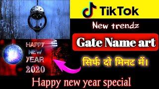 Tiktok new trend gate name art technicalmahatma