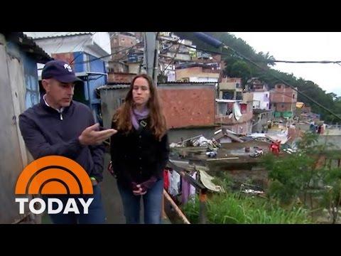 Santa Marta: Matt Lauer Tours of One Of Rio De Janeiro's Oldest Favelas | TODAY