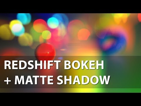 Redshift Bokeh Maya. Matte Shadow Material And The Creation Of An Analog Of Focus Distance Picker.