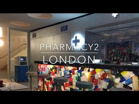 Pharmacy 2, Damien Hirst's restaurant in the Newport Street Gallery, London | allthegoodies.com