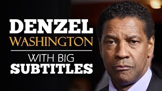 ENGLISH SPEECH | DENZEL WASHINGTON: Put God first (English Subtitles)