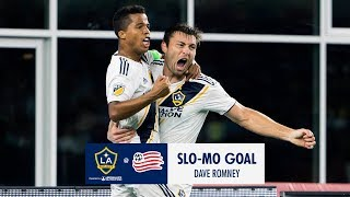 SLO-MO GOAL: Dave Romney heads in a late equalizer
