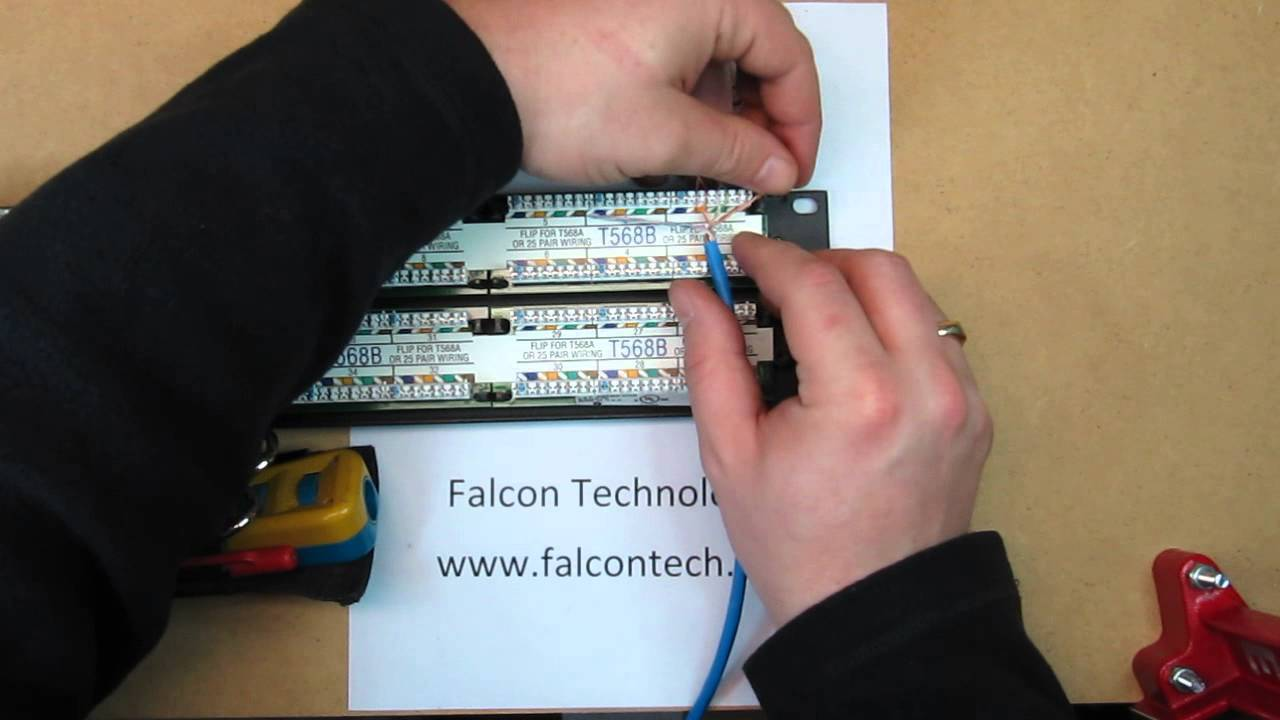 How To Terminate A Leviton 110 Style Patch Panel Falcon Wiring Block Rack Mount Technologies Inc