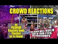 CROWD REACTIONS Compilation on PACQUIAO KNOCKING DOWN THURMAN