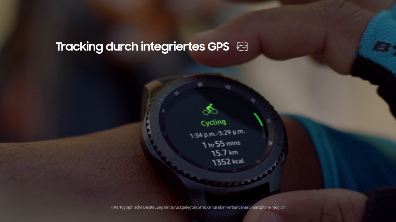 Gps Entfernungsmesser Wandern : Samsung gear s gps tracking unterwegs youtube