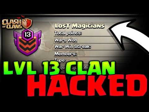LVL 13 INDIAN CLAN HACKED! LOST MAGICIANS HACKED CLASH OF CLANS•FUTURE T18