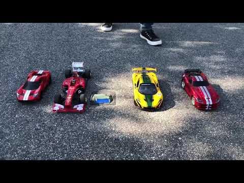 Drag Racers - Big Drag - McLaren P1 GTR vs Ferrari F138 vs Ford Gt '17 vs Dodge Viper SRT10