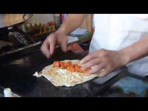 Chicken roll Bangalore street food - Egg Chicken roll