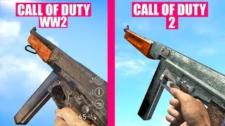 Call of Duty WW2 Gun Sounds vs Call of Duty 2
