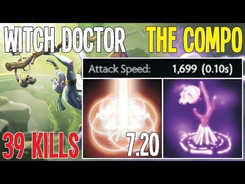 Witch Doctor And Chen New Compo 7.20 [0.10 Attak Speed Death Ward] | Dota 2 Pro Gameplay