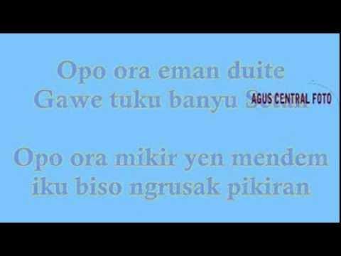 Lyric lagu soimah-oplosan feat YKS