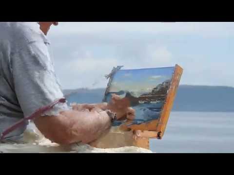 Artist Eric Ward Painting At Tatams