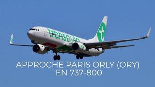 Approche de Paris Orly sur le vol TO7378